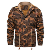 Military Print Hooded Jacket