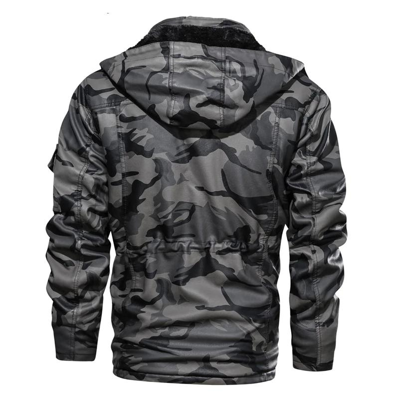 Military Print Hooded Jacket - BrapWrap