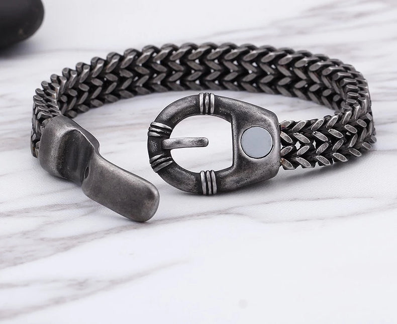 Steel Brushed Matte Chain Link Bracelet