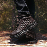Mens Super Warm Insulated Winter Genuine Leather Boots - BrapWrap