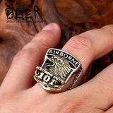 Handcrafted U.S. Army Screaming Eagles 101 Airborne Ring - BrapWrap
