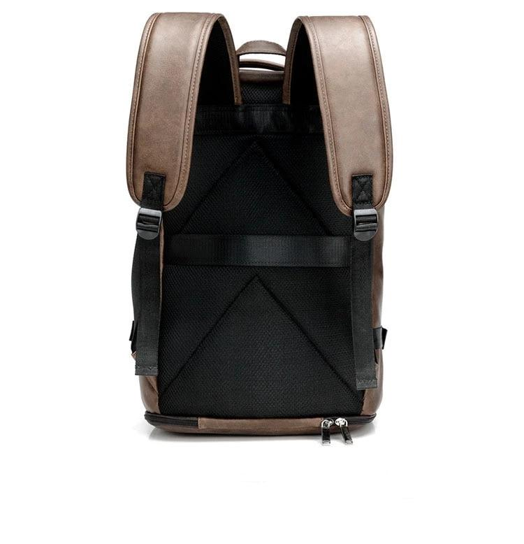 Functional Leather Fashion Backpack