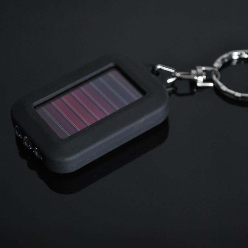 Black Mini Portable Solar Power 3 LED Light Key Chain - BrapWrap