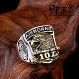 Handcrafted U.S. Army Screaming Eagles 101 Airborne Ring