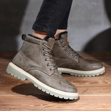 Vintage Winter Leather Snow Boots