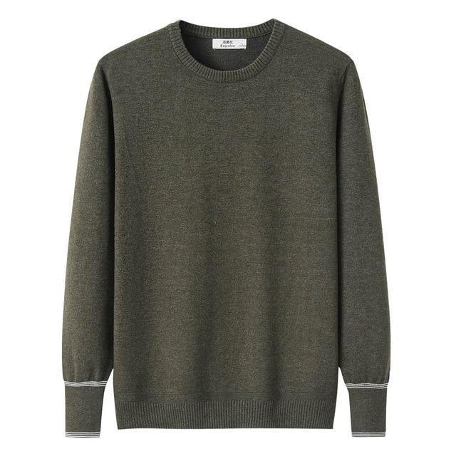 Casual Slim Fit Knitted Sweatshirt - BrapWrap