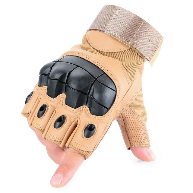 PU Leather Motorcycle Finger-less Gloves - BrapWrap