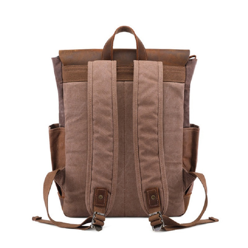 Wax Canvas Cow Leather Backpack