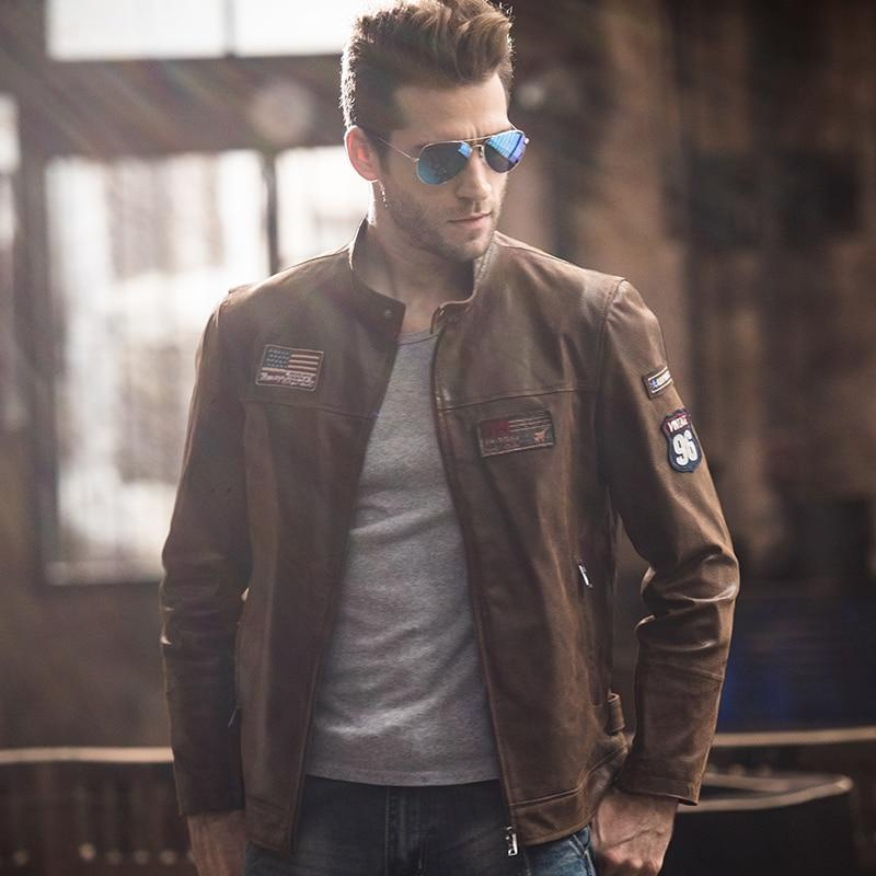 Genuine Leather Air Force Style Jacket - BrapWrap