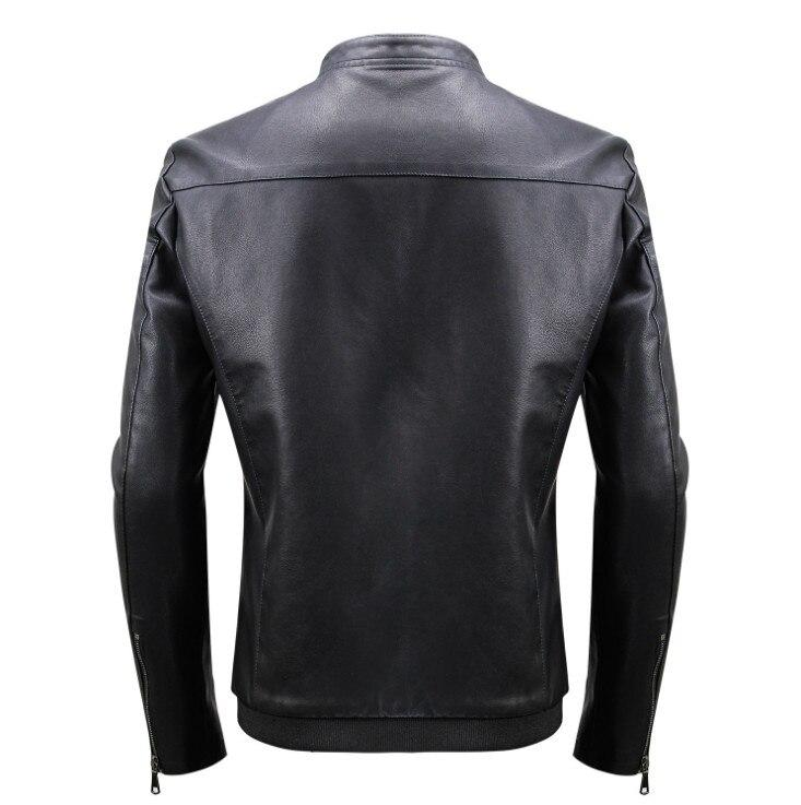 Black Casual Motocross Leather Jackets - BrapWrap