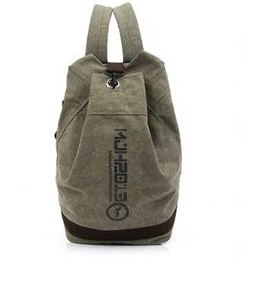 Unisex School Casual Canvas Backpack