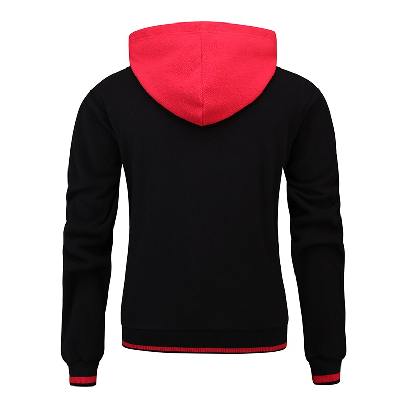 Thick Casual Two Tone Fashion Hoodie