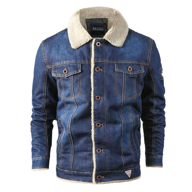 Warm Fleece Thick Denim Jacket