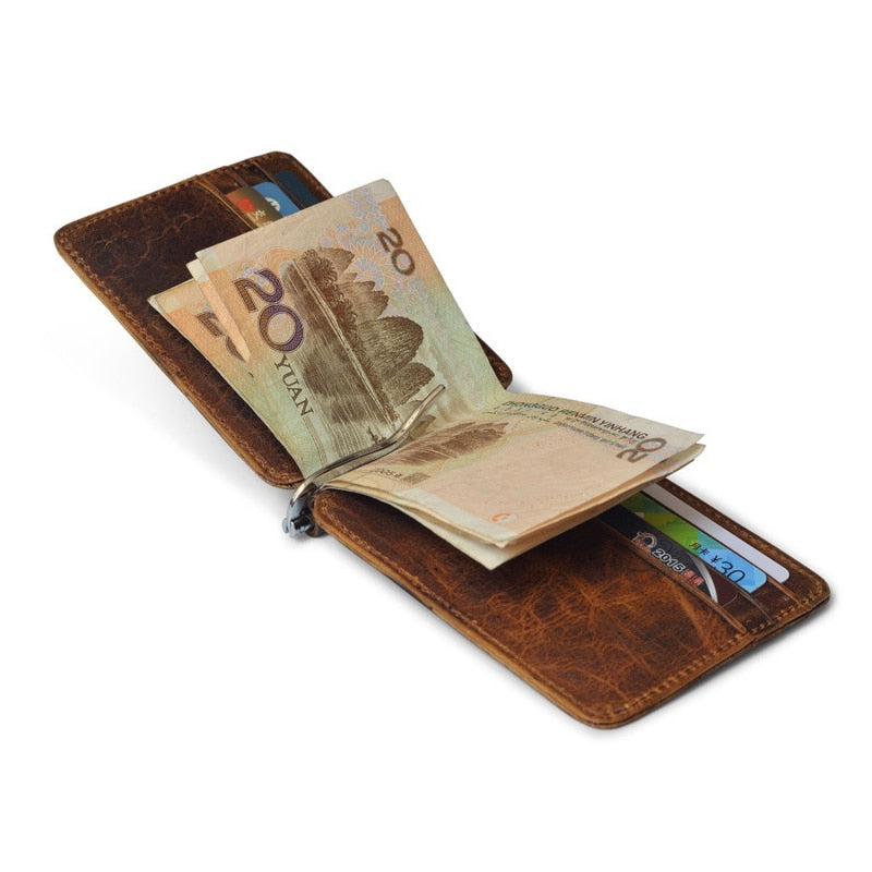 Retro High Quality Genuine Leather Bifold Wallet