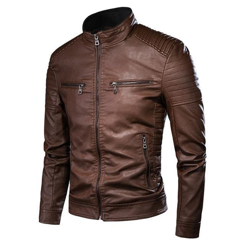 Motorcycle Causal Vintage Leather Jacket