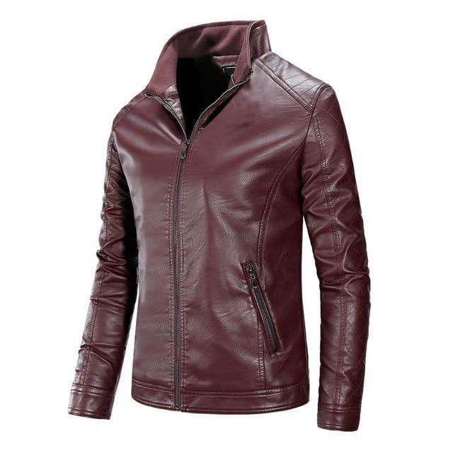 Motorcycle Causal Vintage Leather Jacket - BrapWrap