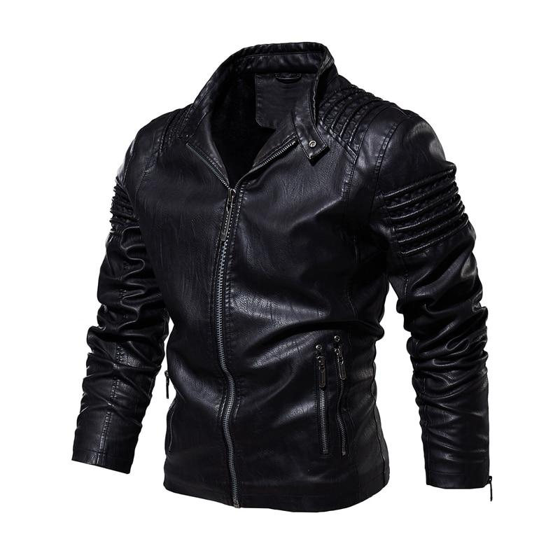 Motorcycle Rider Leather Warm Jacket - BrapWrap