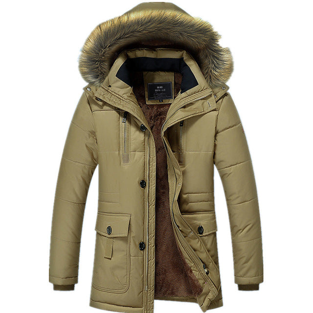 Thermal Thick Warm Hooded Windproof Long Jacket