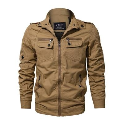 Cotton Military Bomber Jacket