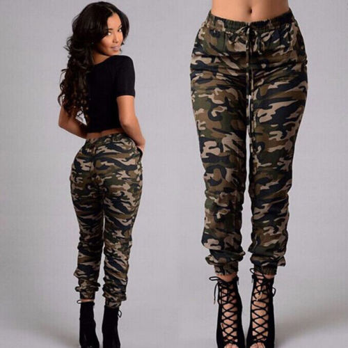 Women's Camouflage Army Skinny Fit Stretchy Jeans Jeggings