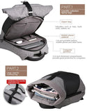 PU Patchwork Designer Waterproof Backpack - BrapWrap