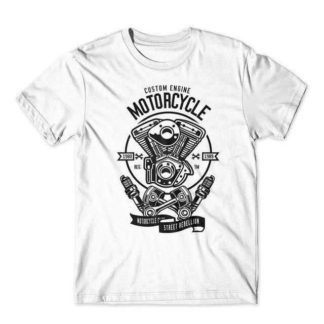 Custom Engine Motorcycle T-Shirt - BrapWrap