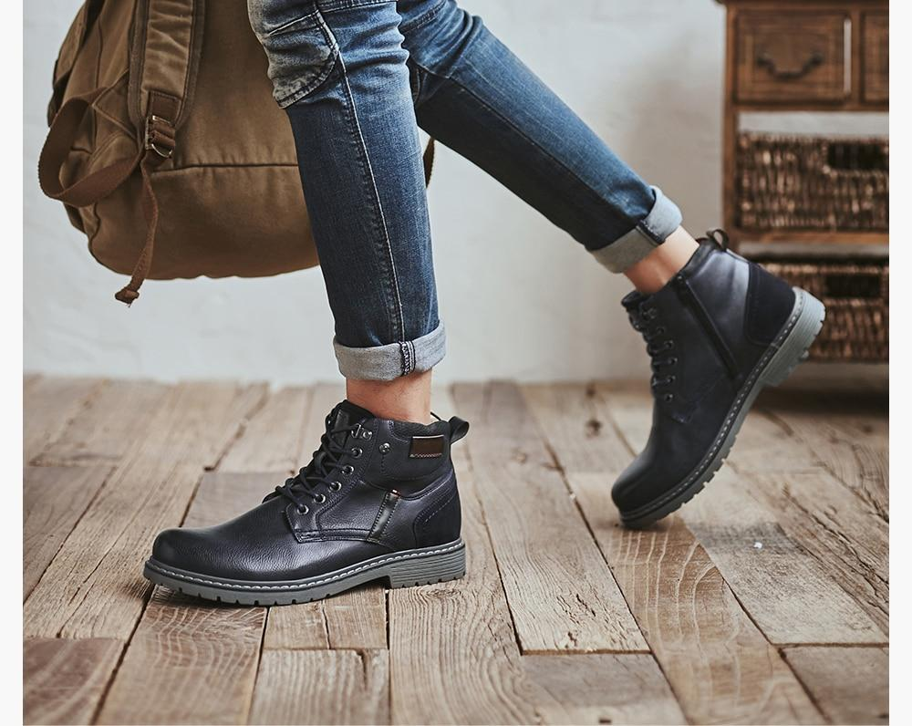 Genuine Leather Casual Boots - BrapWrap