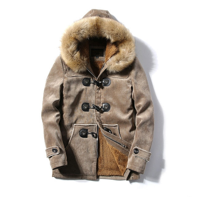 Winter Fleece Fur Thick Casual Warm hooded Jackets