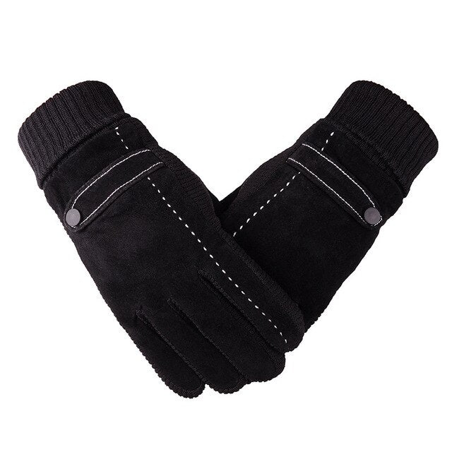 Warm Thick Genuine Leather Winter Gloves