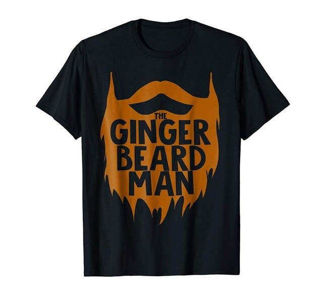 The Ginger Beard Man Cotton T Shirt