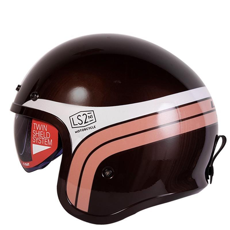 Open Face Fashion Bubble Visor Helmet - BrapWrap
