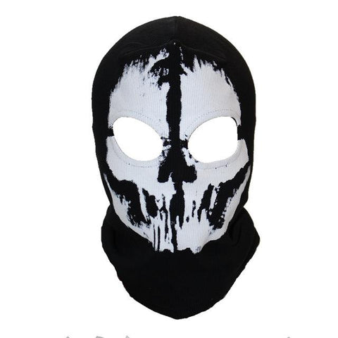 Black 3D Skull Full Face Mask - BrapWrap