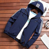 Classic Striped Bomber Jacket Hoodie - BrapWrap