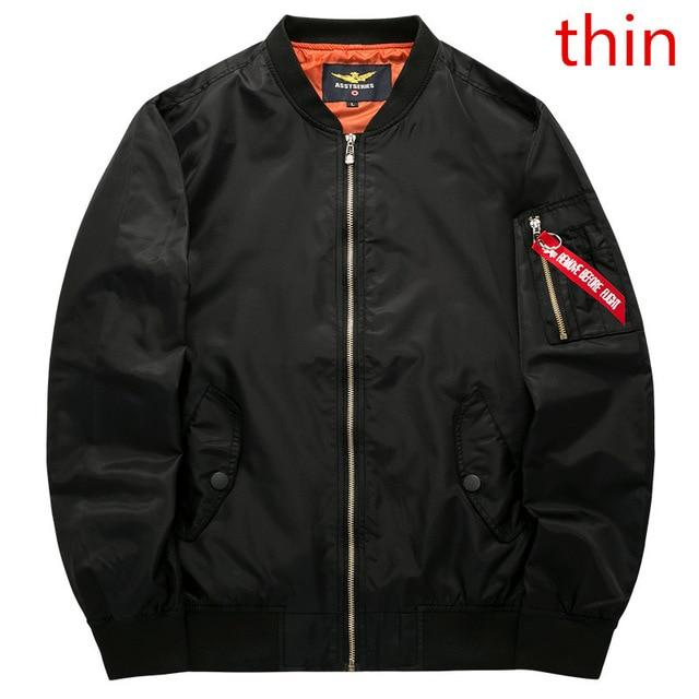Men's Bomber Jacket Air Force Male Army - BrapWrap