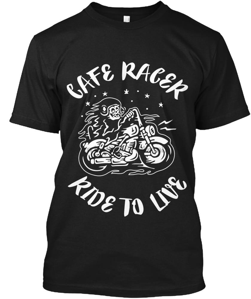 Men T Shirt Cafe Racer - Ride to live Women tshirt - BrapWrap