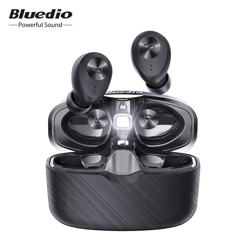 Bluedio Fi Bluetooth earphone  wireless earbuds waterproof Sports Headset  charging box