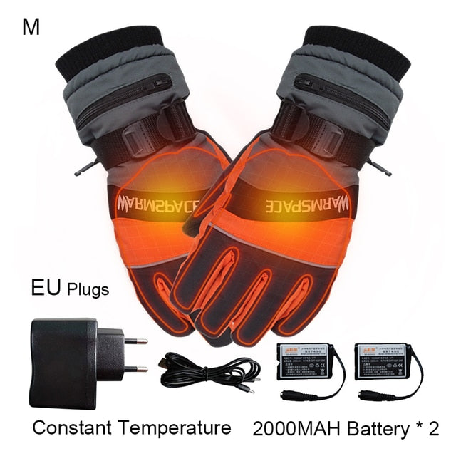 Electric Heated Motorcycle Gloves With 4000mAh USB Rechargeable  Battery