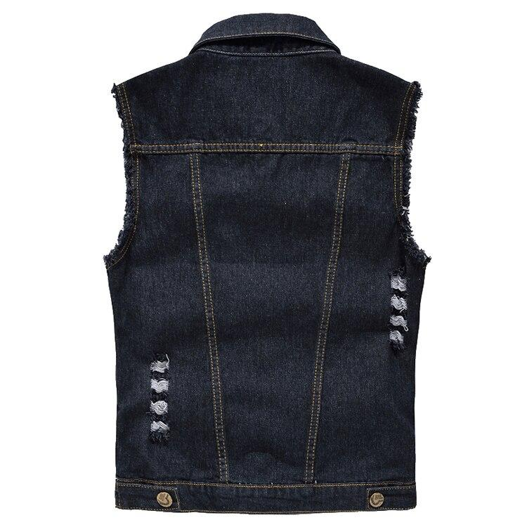 Black Ripped Denim Vest - BrapWrap