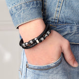 Leather Bracelet for Bikers