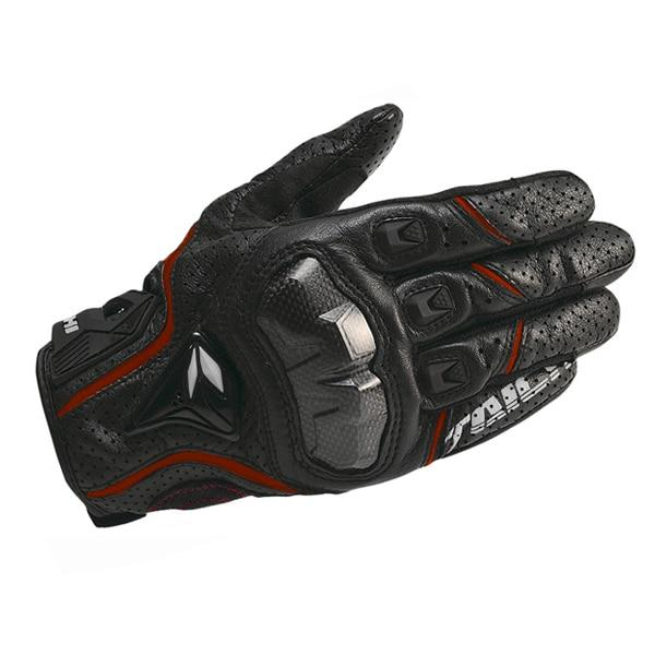 Leather Perforated Carbon Fiber Gloves for Riding - BrapWrap