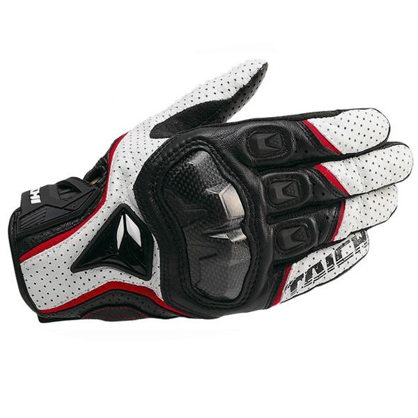 Leather Perforated Carbon Fiber Gloves for Riding