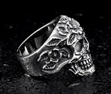Flower Skull Exaggerated Vintage Ring - BrapWrap