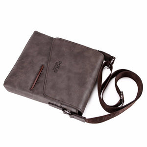 Frosted Leather Messenger Bag