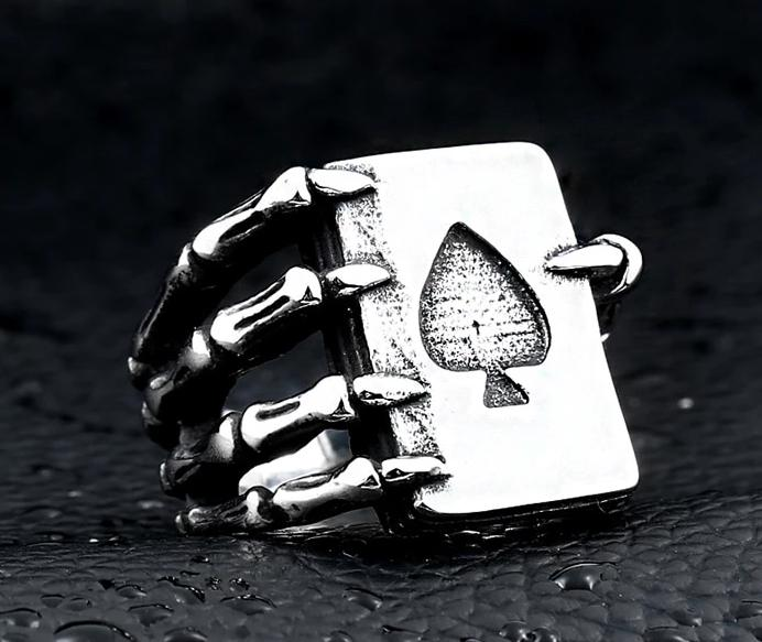 Poker Style Dragon Claw Ring - BrapWrap