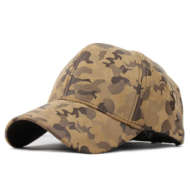 Camouflage Adjustable Military Style Cap - Baseball Hat