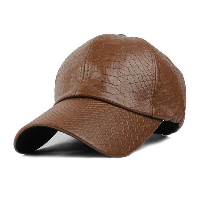 PU Leather Moto Rider Cap - BrapWrap
