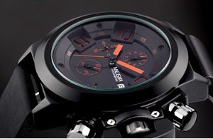Silicone Band Sport Quartz Watch