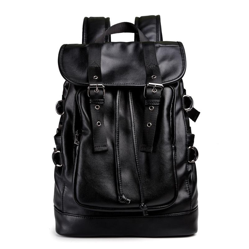 PU Leather Black Backpacks - BrapWrap