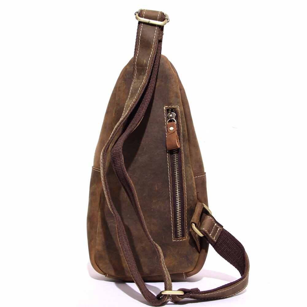 Vintage Style Genuine Leather Crossbody Shoulder Sling Bag
