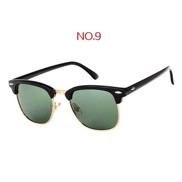 Fashion Mirror Half Frame Sunglasses